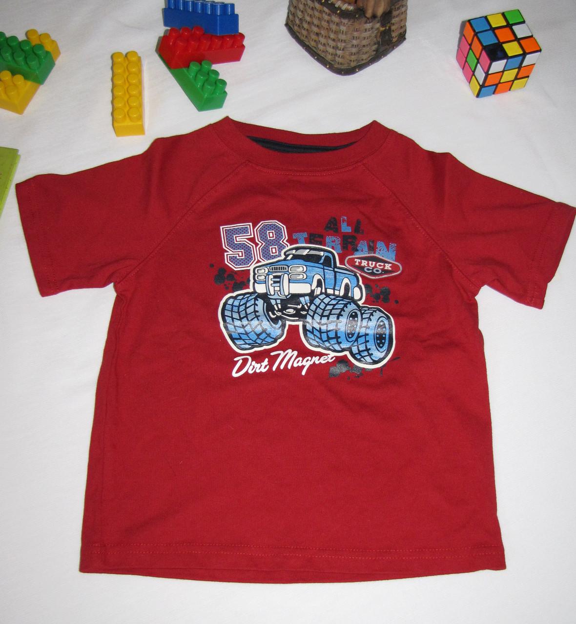 Футболка  Wonder Kids Джип рост 104 см красная 07105