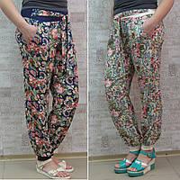 Брючки летние женские, ШТАПЕЛЬ, ростовка от 40 до 50 р/ра.  Летние женские брюки из штапеля, фото 1