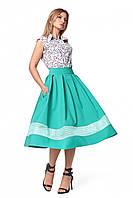 Стильный женский костюм юбка и блуза