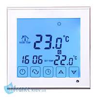 Терморегулятор для нагревательных панелей Klimteh BHT-323GB White, фото 1