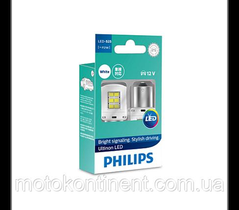 P21W Лампочки в габариты Philips X-treme Ultinon  LED - ХОЛОДНЫЙ белый P21W LED 12V 6000K  BA15S, фото 2