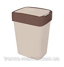 "Ведро для мусора ""Евро"" двухцветное-10л, фото 2"