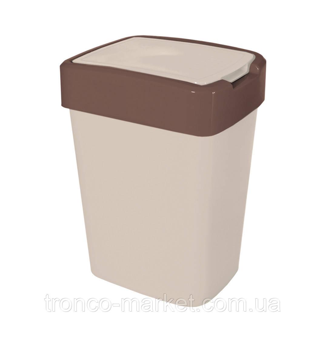 "Ведро для мусора ""Евро"" двухцветное-18л"