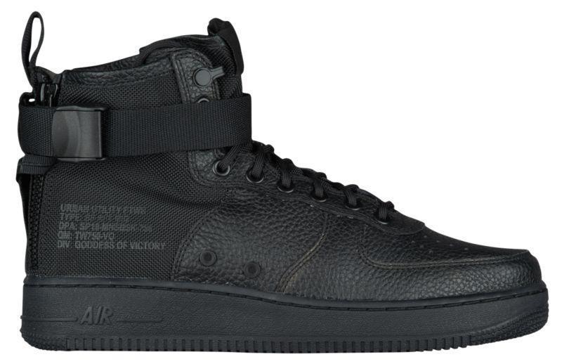 best service 2b945 615f3 Кроссовки/Кеды (Оригинал) Nike SF Air Force 1 Mid '17 Black/Black/Black