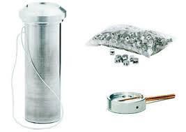 Внешний вид контейнера для хранения мелких предметов ,таких как ключей от сейфа и тд... внешний вид свинцовых пломб и чаши для пломбира.