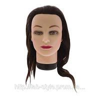 Голова  учебная на штативе искусственный волос 50-55см