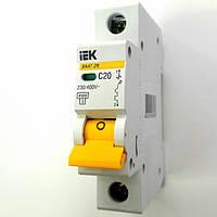 IEK автоматический выключатель 1 полюс 20А