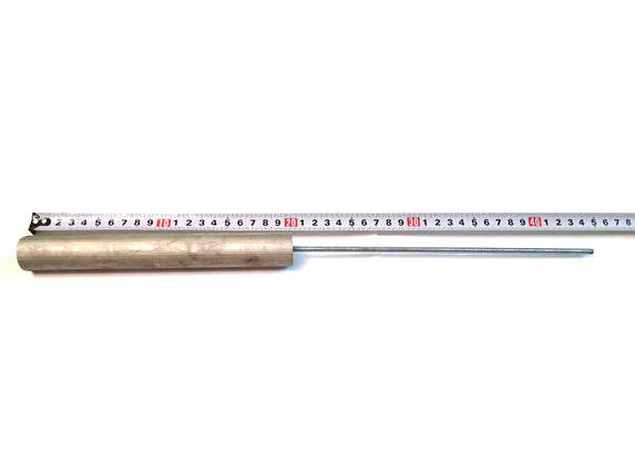 Анод магниевый Ø26мм / L=200мм / резьба M5x245мм Украина, фото 2