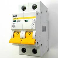 IEK автоматический выключатель 2 полюса 32А