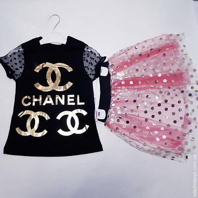 Детский костюм 'Chanel'Футболка и Юбка 124410