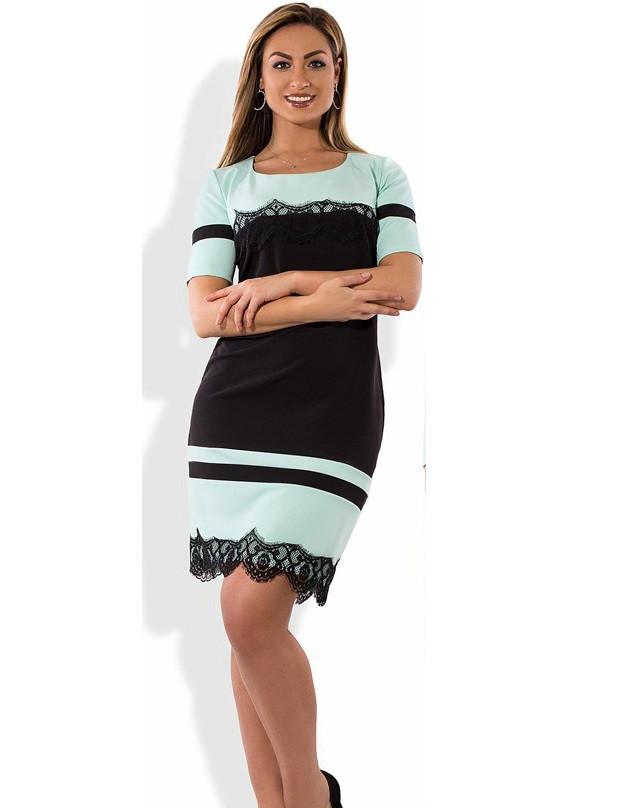 Стильное платье женское миди размеры от XL ПБ-352