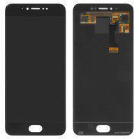 Дисплей для Meizu Pro 6 + touchscreen, черный, с передней панелью