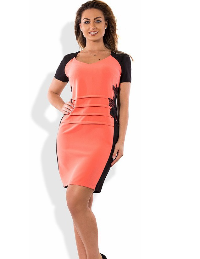 Стильное платье женское летнее размеры от XL ПБ-356