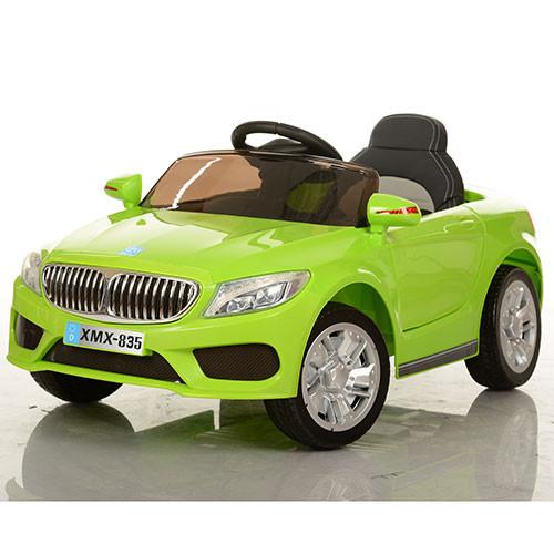 Детский электромобиль BMW M 3270 EBLR-5 зеленый, мягкие колеса и кожаное сиденье