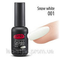 Гель лак PNB № 001 Snow white 8 ml