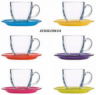 Carina Rainbow Сервиз чайный 220 мл - 12 пр. Luminarc N4217