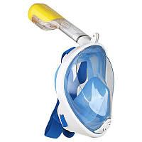 Маска SHOOT для подводного плавания (сноркелинга) с креплением для экшн камер - голубая (L-XL) код № XTGP280