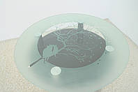 """Стол кухонный Maxi DT K 900 (2) """"миндаль"""" черный стекло, хром, фото 1"""