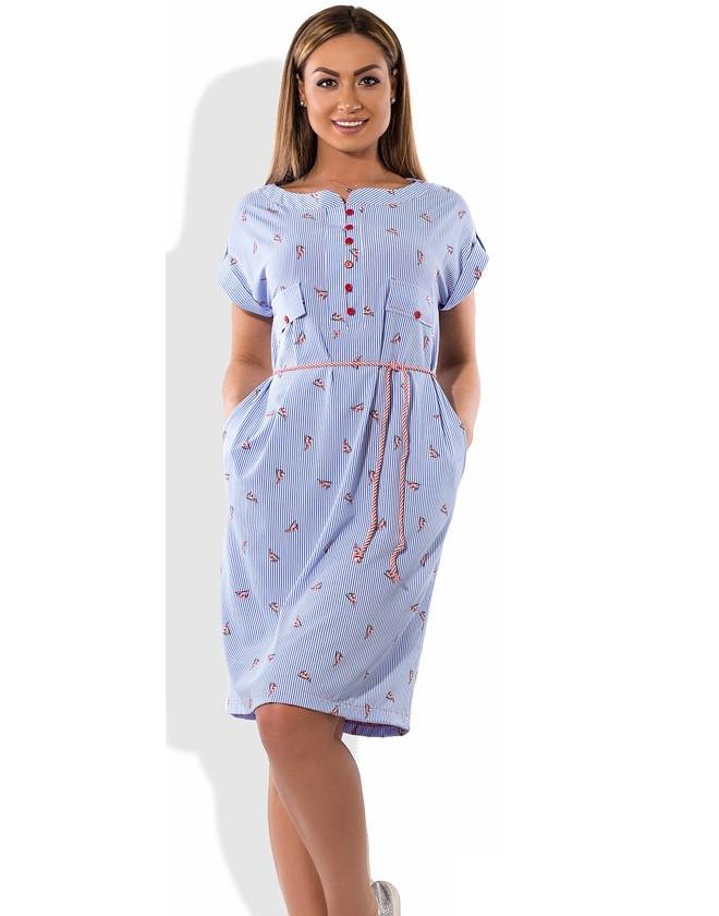 Молодежное платье летнее размеры от XL ПБ-361