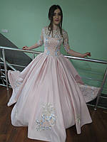 Платье для выпускного с гипюром