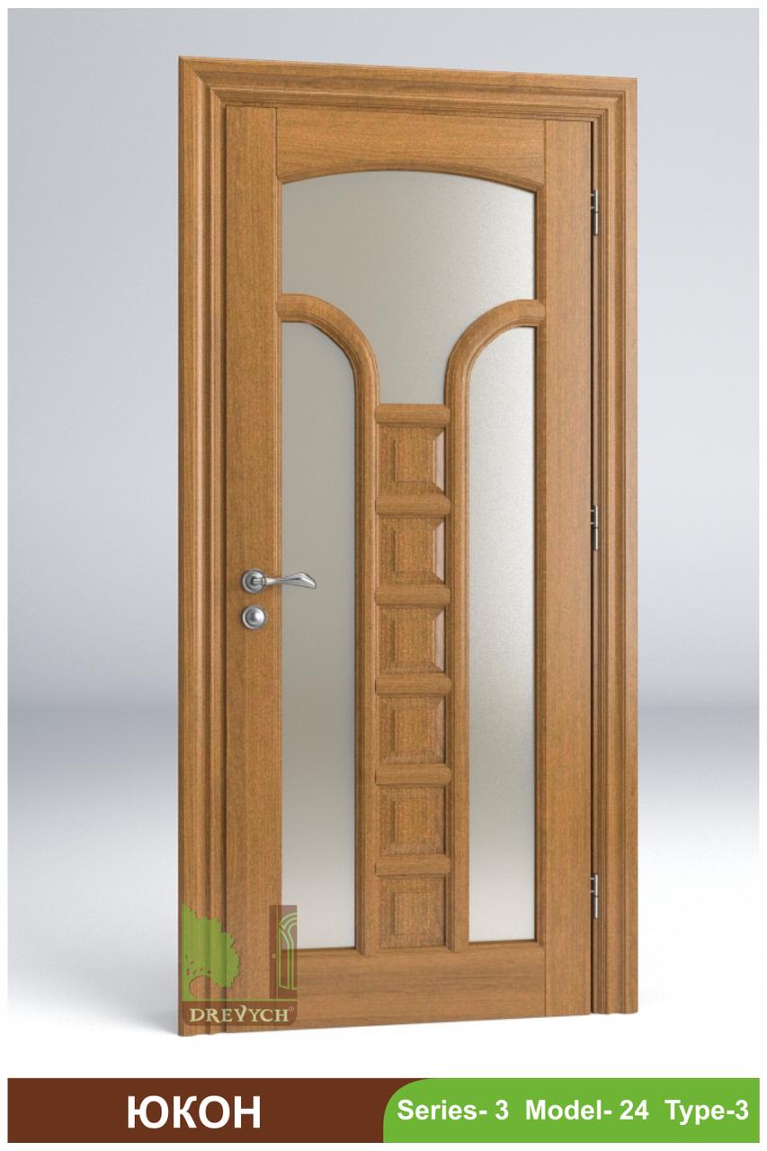 Міжкімнатні двері з масиву дерева Юкон