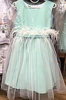 Детское нарядное платье/ сарафан с перьями опт, фото 1