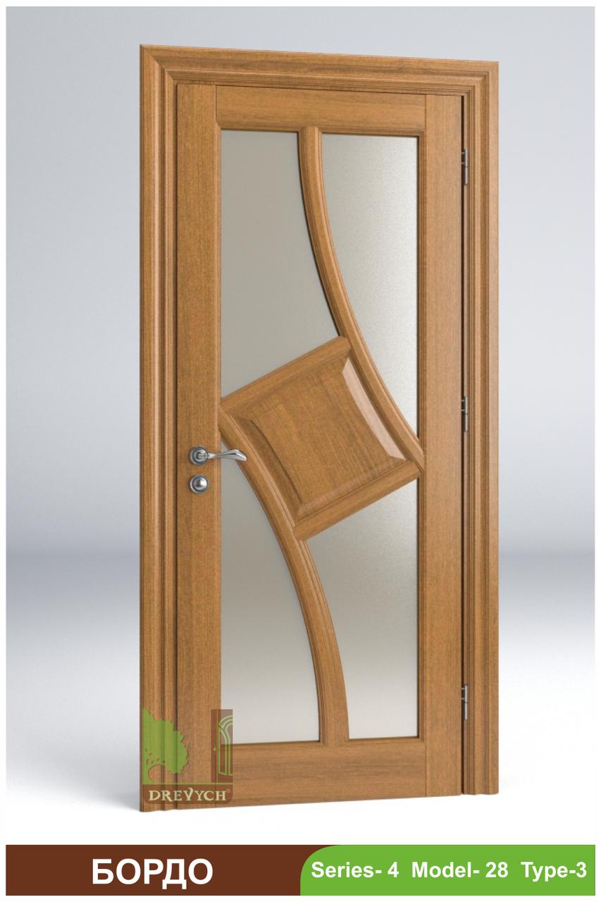Міжкімнатні двері з масиву деревини Бордо
