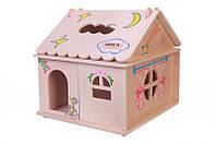 Кукольный домик  Hega  с росписью 1эт. (039A), фото 1