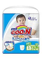 Трусики-підгузки GOO.N для активних дітей 4-9 кг (розмір S, унісекс, 62 шт)