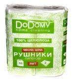 """Полотенце бумажное """"DoDomy"""" 2 слоя (белый)"""