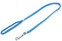 Поводок для собак капроновый ПКЛ Коса синий