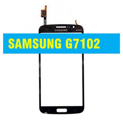 Cенсорный экран Samsung G 7102 (7105, 7106) Galaxy Grand 2 Duos BLACK, фото 2