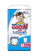 Трусики-підгузки GOO.N для дівчаток 9-14 кг (розмір L, 44 шт)