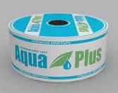 Лента  капельного орошения, полива  Aqua Рlus 8mil 30см 500л/ч --- 1000м. (бухта)
