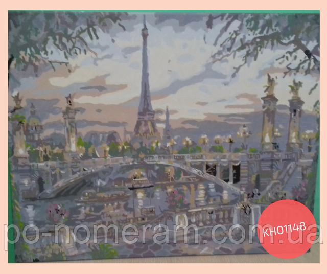 Картина по номерам Париж нарисованная