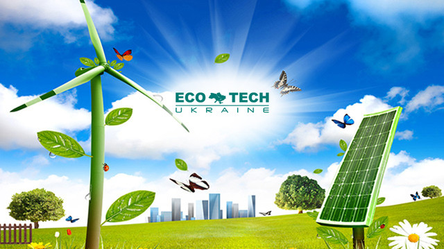 баннер на главную eco-tech com ua солнечные электростанции панели батареи