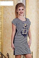 Платье с якорем батал  р2852