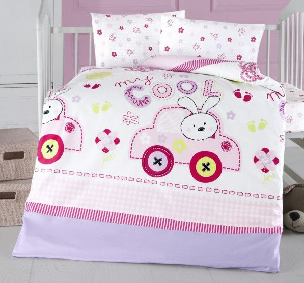 Детский комплект постельного белья Arya Ранфорс  100х150 Cool Baby Розовый TR1003812