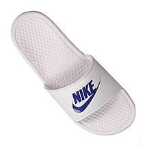 4b162db91 Мужские спортивные тапочки Nike Benassi JDI Slide Black 343880-102 Белый с  синим