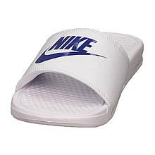 Мужские спортивные тапочки Nike Benassi JDI Slide Black 343880-102 Белый с синим