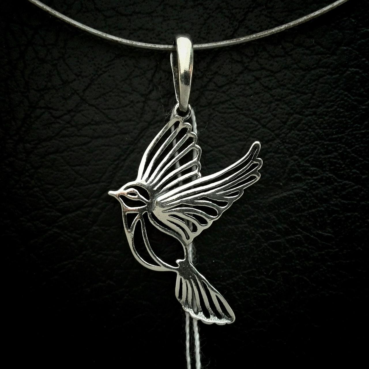 Серебряный подвес Птичка
