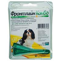 Frontline Combo (Фронтлайн Комбо) капли от блох и клещей для собак весом 2-10 кг.