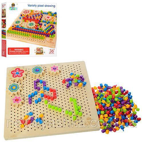 Деревянная игрушка Мозаика, MD 1185, 006985