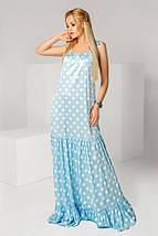 """Длинное летнее платье-сарафан в горошек """"Karina"""" с оборками (2 цвета), фото 3"""