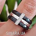 Серебряное кольцо с черной керамикой - Кольцо с керамикой серебро, фото 4