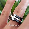 Серебряное кольцо с черной керамикой - Кольцо с керамикой серебро, фото 3
