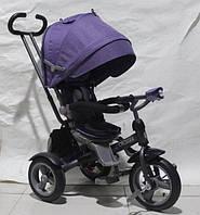 Детский трехколесный велосипед  Crosser T- 503 ECO AIR , сиреневый