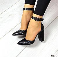 Туфли MoniCматериал натуральная кожа, стелька кожа, цвет - черный