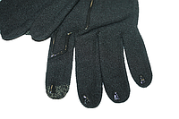 Перчатки для сенсорного экрана Decathlon (разные размеры) черные Размер M