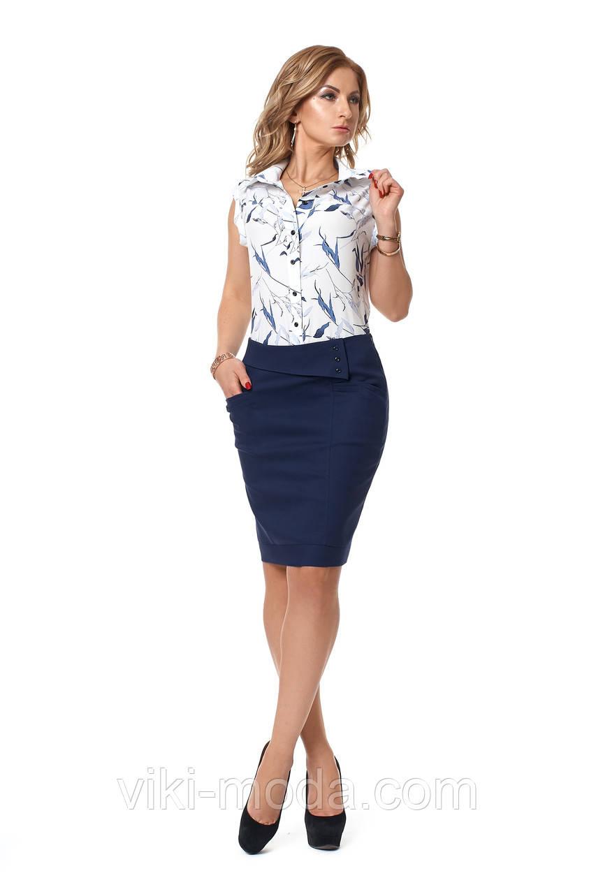 Костюм женский, блуза + юбка